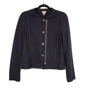 J. Jill Black Moto Jacket Size M